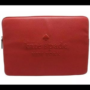 Kate Spade Sienne Logo Leather Laptop Case